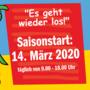 Saisonstart 2020 - Am 14. März 2020 gehts los!